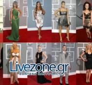"""Το """"κόκκινο χαλί"""" (Red Carpet) των βραβείων Grammys Live στο Livezone.gr"""